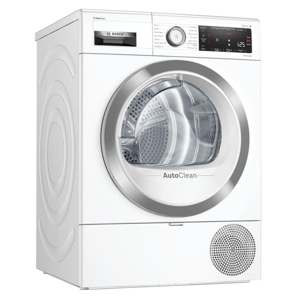 Bosch WTX88RH9GB 9kg Serie 8 Heat Pump Condenser Tumble Dryer - WHITE