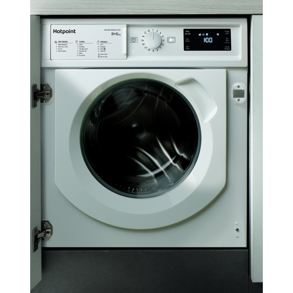 Hotpoint WDHG861484 8kg Fully Integrated Washer Dryer