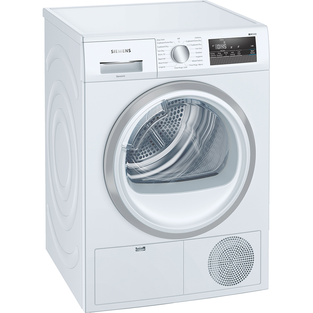 Siemens WT45N202GB 8kg IQ-300 Condenser Tumble Dryer - WHITE