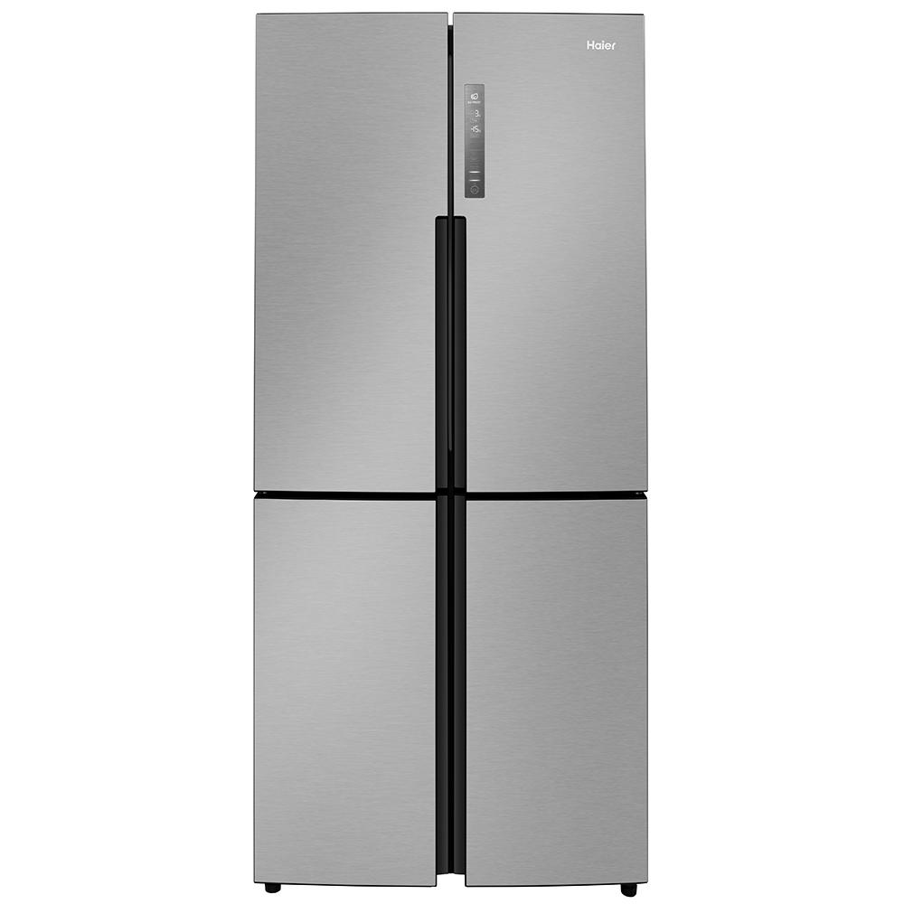 Haier HTF-456DM6 Extra Wide American Fridge-over-freezer Grey