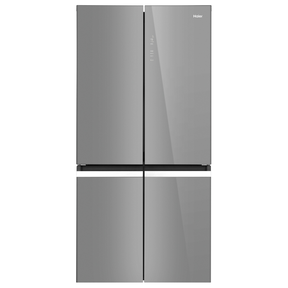 Haier HTF-540DGG7 American Style Four Door Fridge Freezer - SILVER