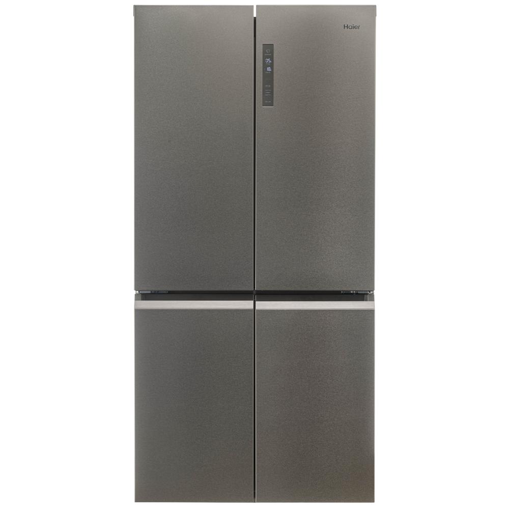 Haier HTF-540DP7 American Style Four Door Fridge Freezer - SILVER