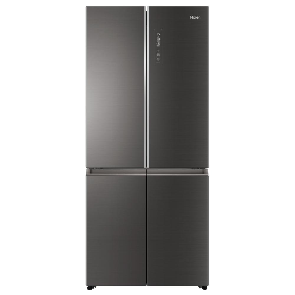 Haier HTF-508DGS7 American Style Four Door Fridge Freezer - ICONIC GLASS