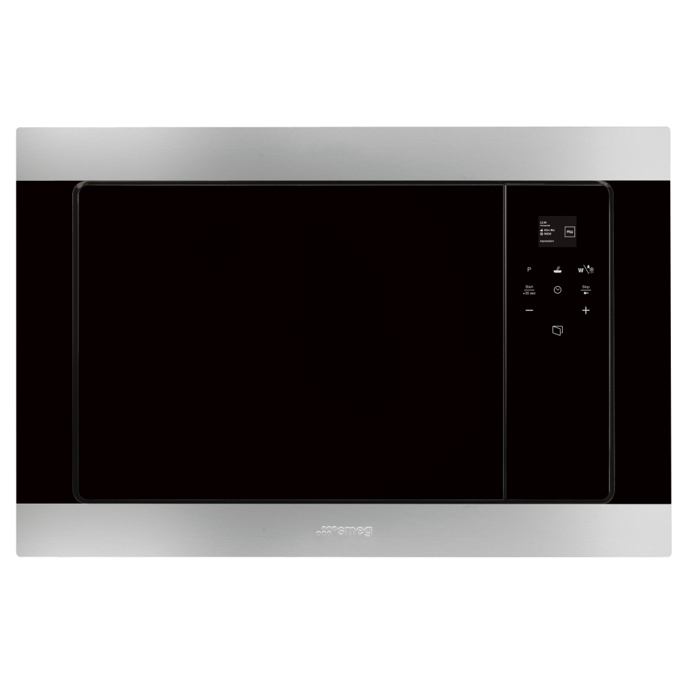 Smeg FMI320X2 Built In Classic Microwave And Grill For Wall Unit - STAINLESS STEEL