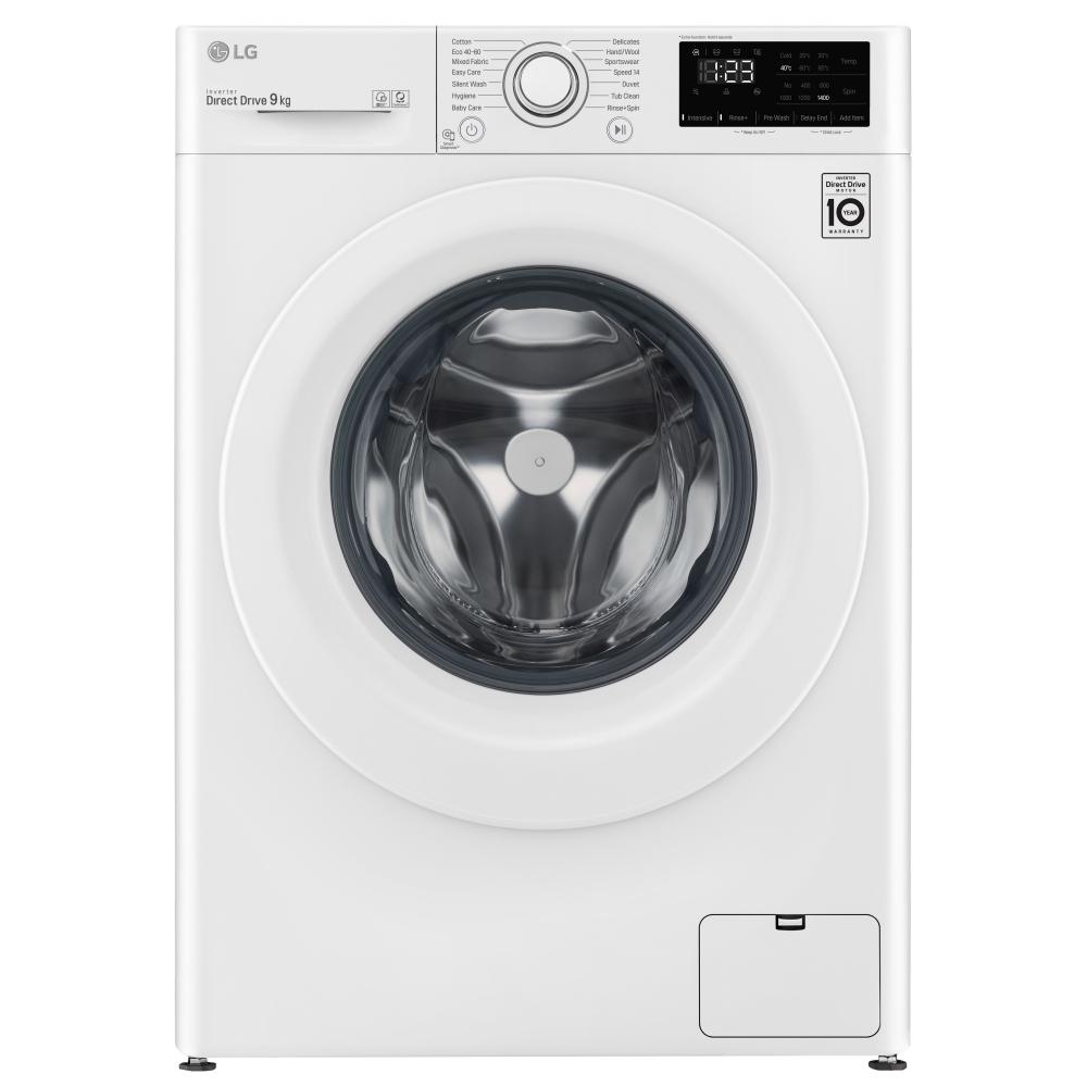 LG F4V309WNW 9kg Washing Machine 1400rpm - WHITE