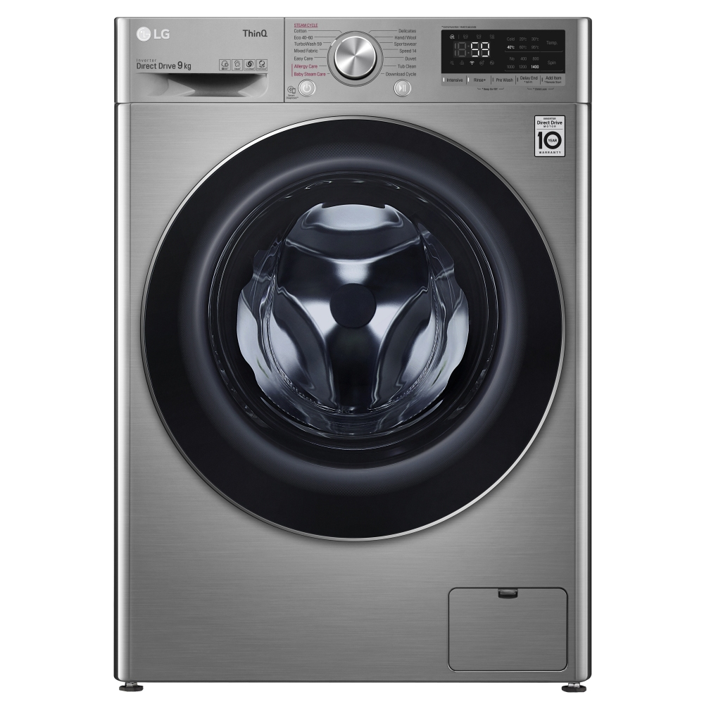 LG F4V709STSE 9kg Steam Washing Machine 1400rpm - GRAPHITE