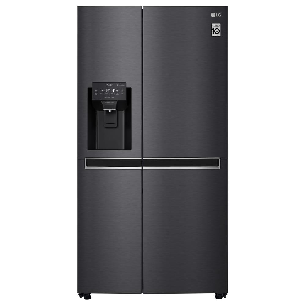 LG GSL761MCKV American Fridge Freezer Non Plumbed Ice & Water - BLACK STEEL
