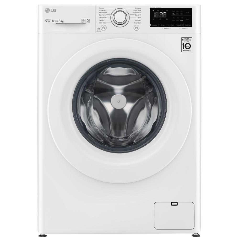 LG F4V308WNW 8kg Washing Machine 1400rpm - WHITE