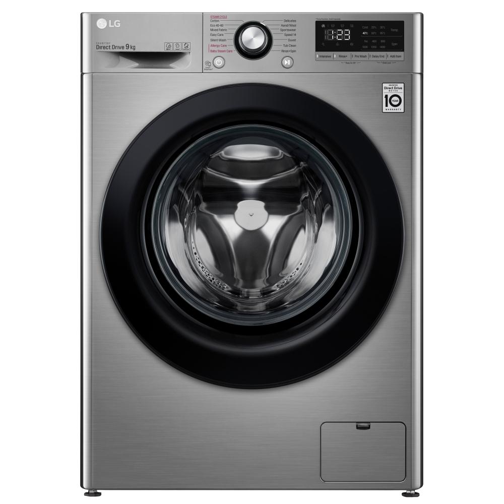 LG F4V309SSE 9kg Steam Washing Machine 1400rpm - GRAPHITE