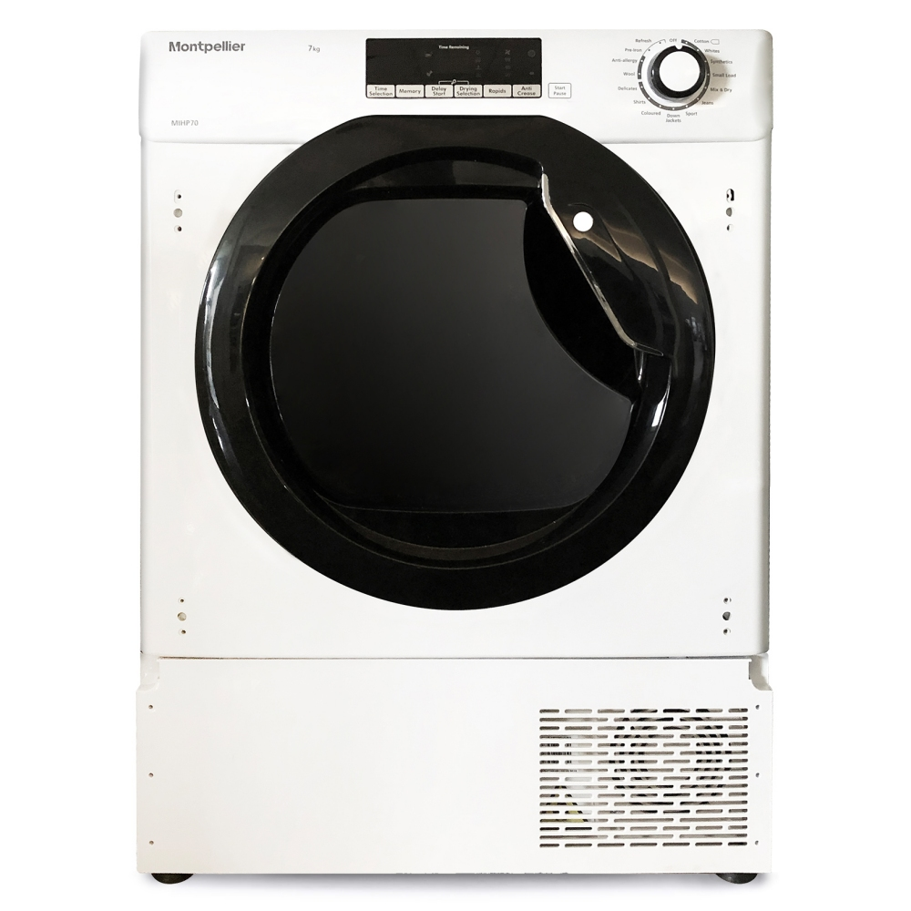 Montpellier MIHP70 7kg Fully Integrated Heat Pump Condenser Tumble Dryer