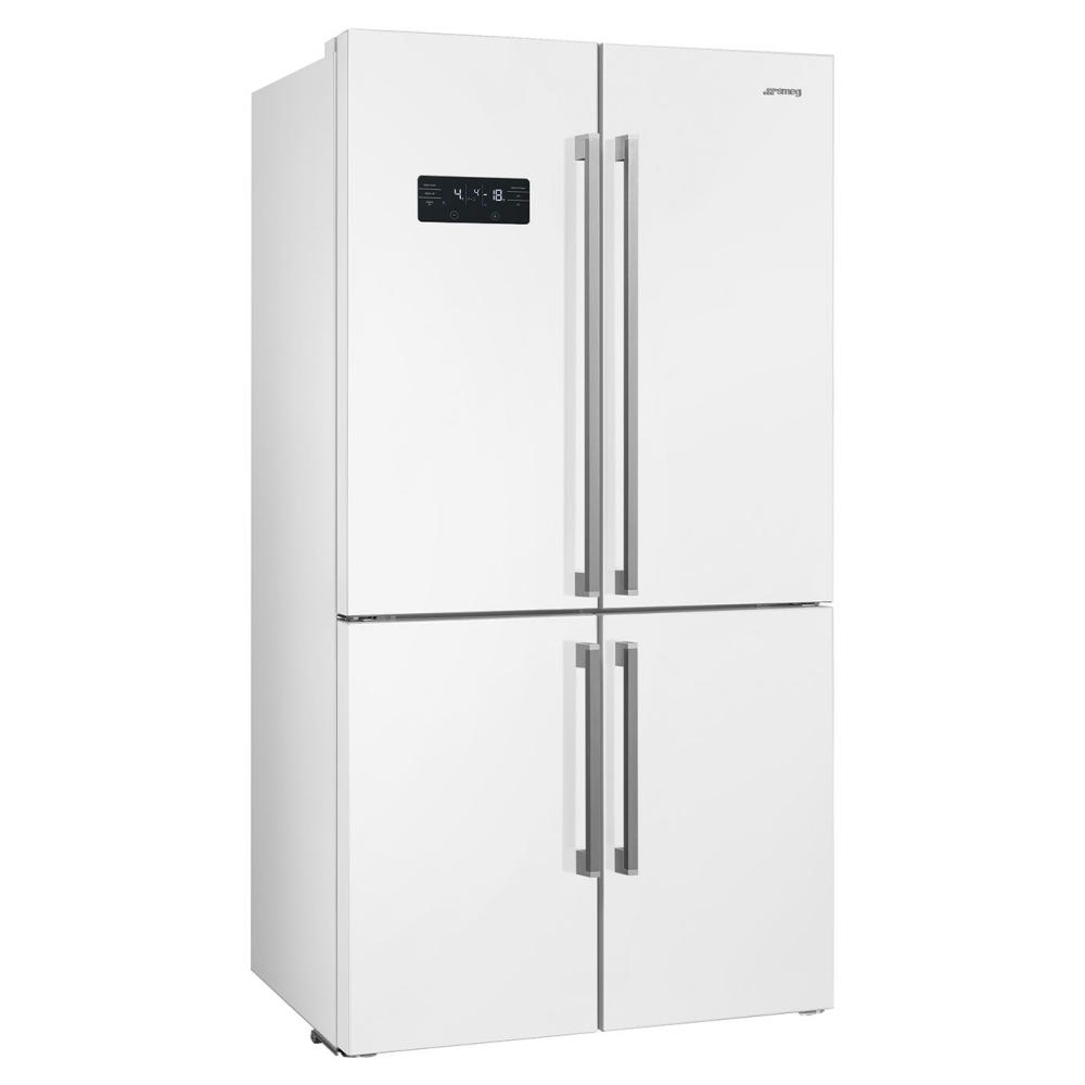 Smeg FQ60BDF American Style Four Door Fridge Freezer - WHITE