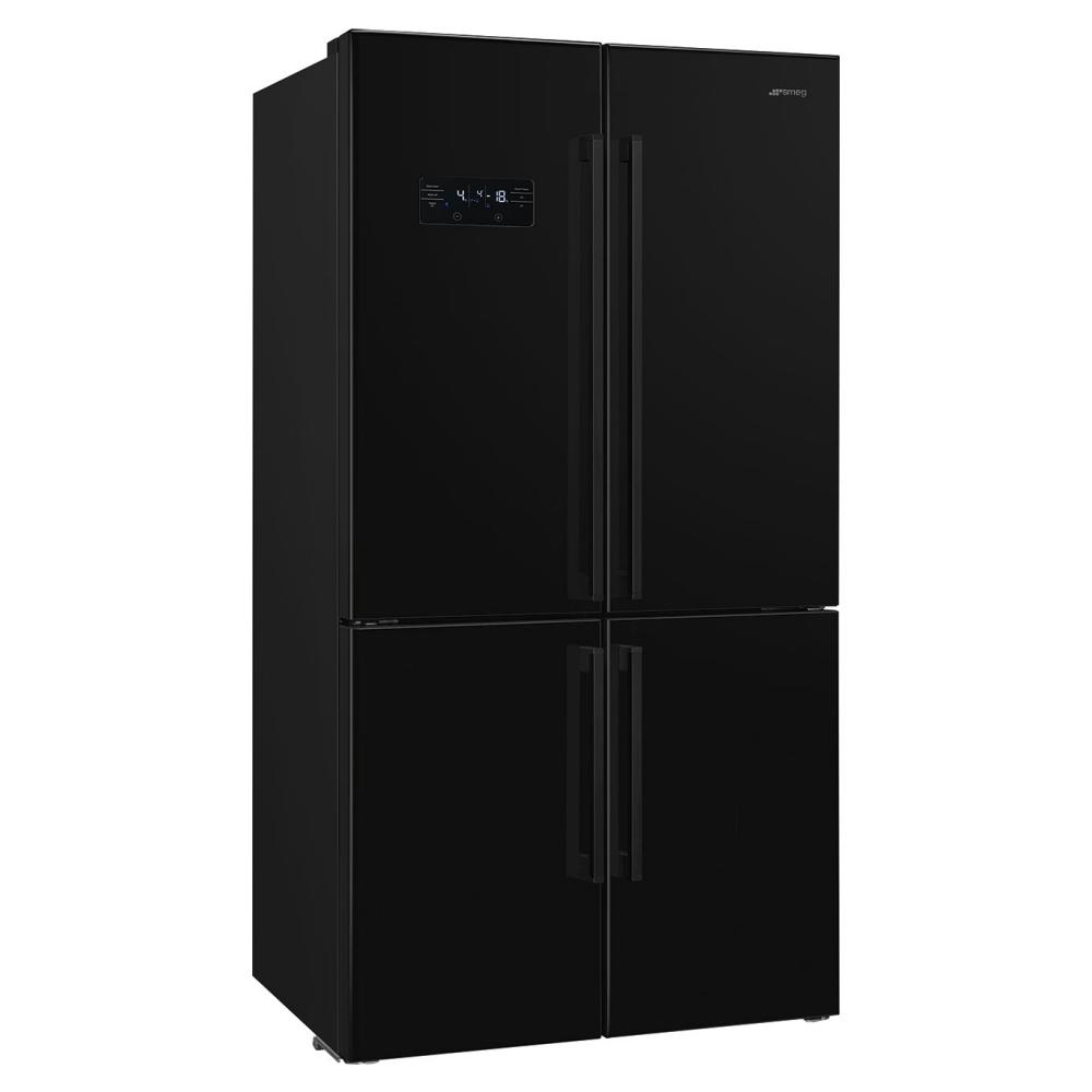 Smeg FQ60NDF American Style Four Door Fridge Freezer - BLACK