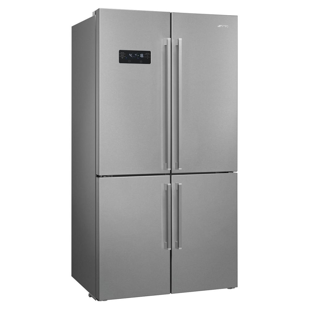 Smeg FQ60XDF American Style Four Door Fridge Freezer - SILVER