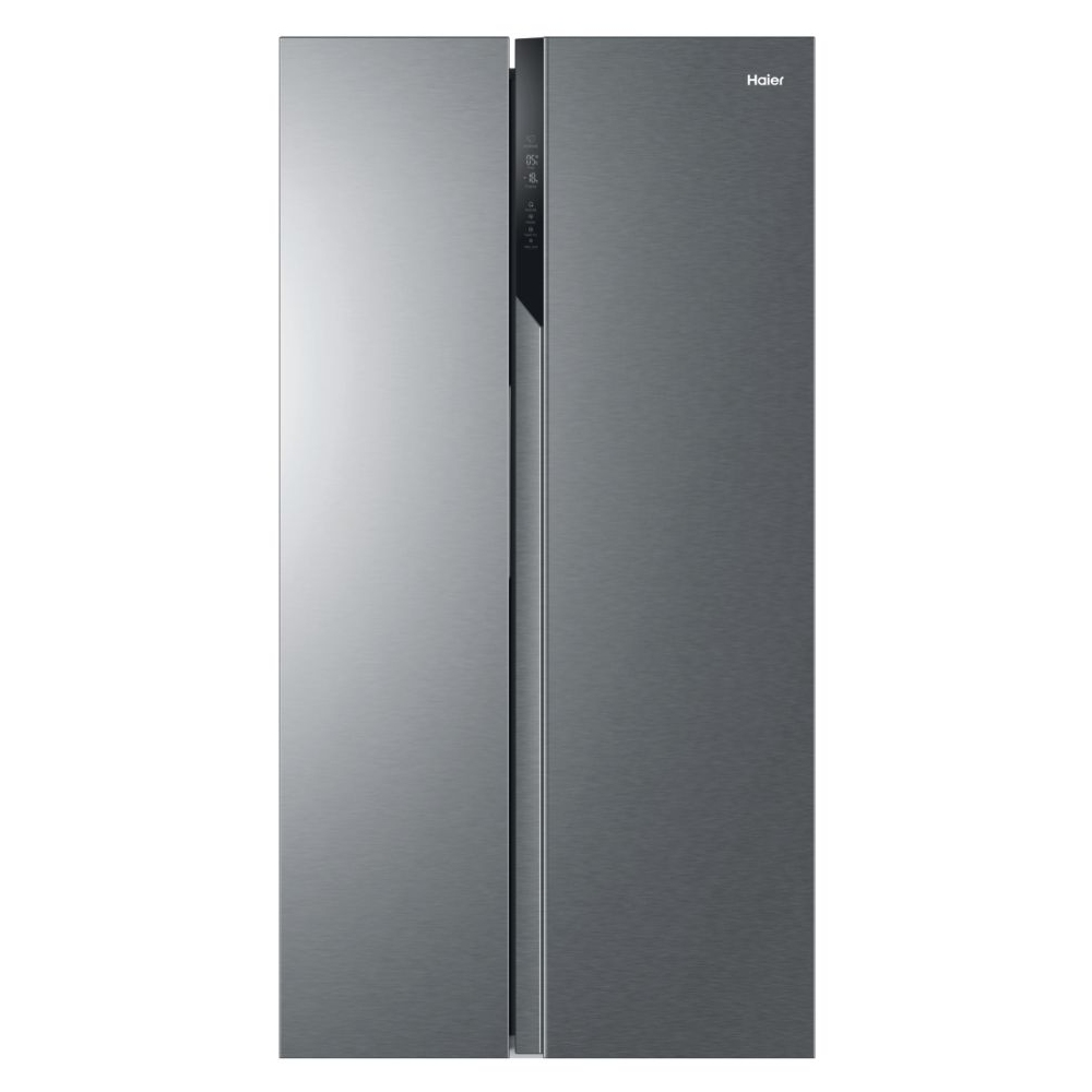 Haier HSR3918ENPG American Style Fridge Freezer Non Ice And Water - SILVER