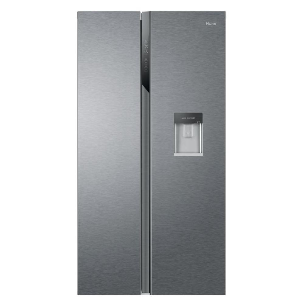 Haier HSR3918EWPG American Style Fridge Freezer With Water Dispenser - SILVER