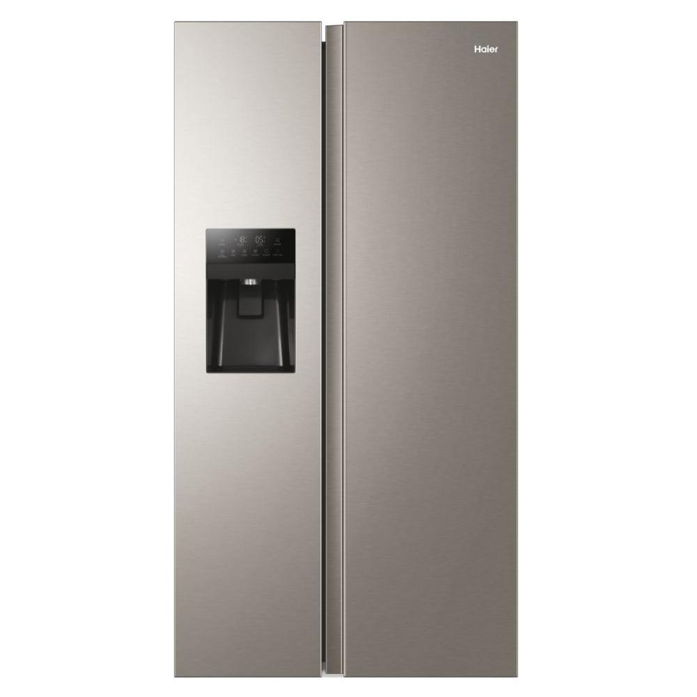 Haier HSR3918FIMP American Style Fridge Freezer Ice & Water - PLATINUM