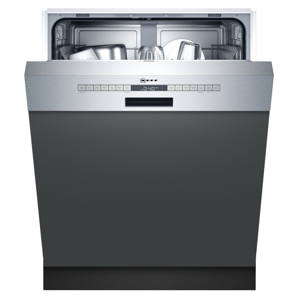 Neff S145ITS04G 60cm Semi Integrated Dishwasher - STAINLESS STEEL