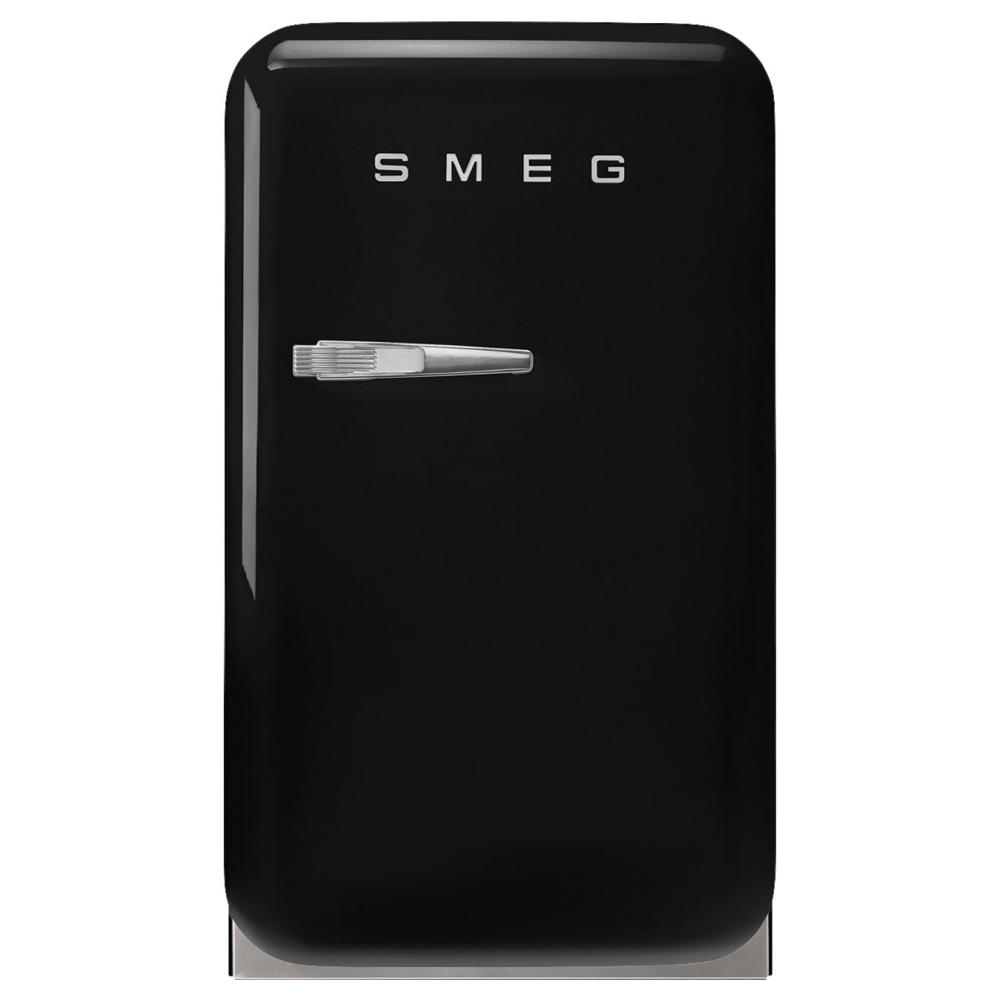 Smeg FAB5RBL5 Retro Mini Bar Fridge Right Hand Hinge - BLACK