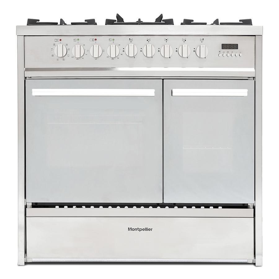 Montpellier MRT91DFMX 90cm Dual Fuel Range Cooker - STAINLESS STEEL