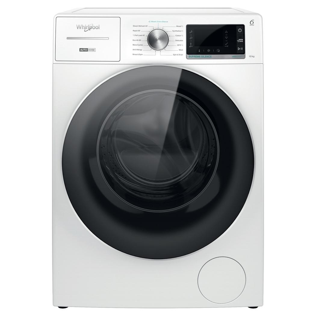 Whirlpool W8W046WRUK 10kg Auto Dose Washing Machine 1400rpm - WHITE
