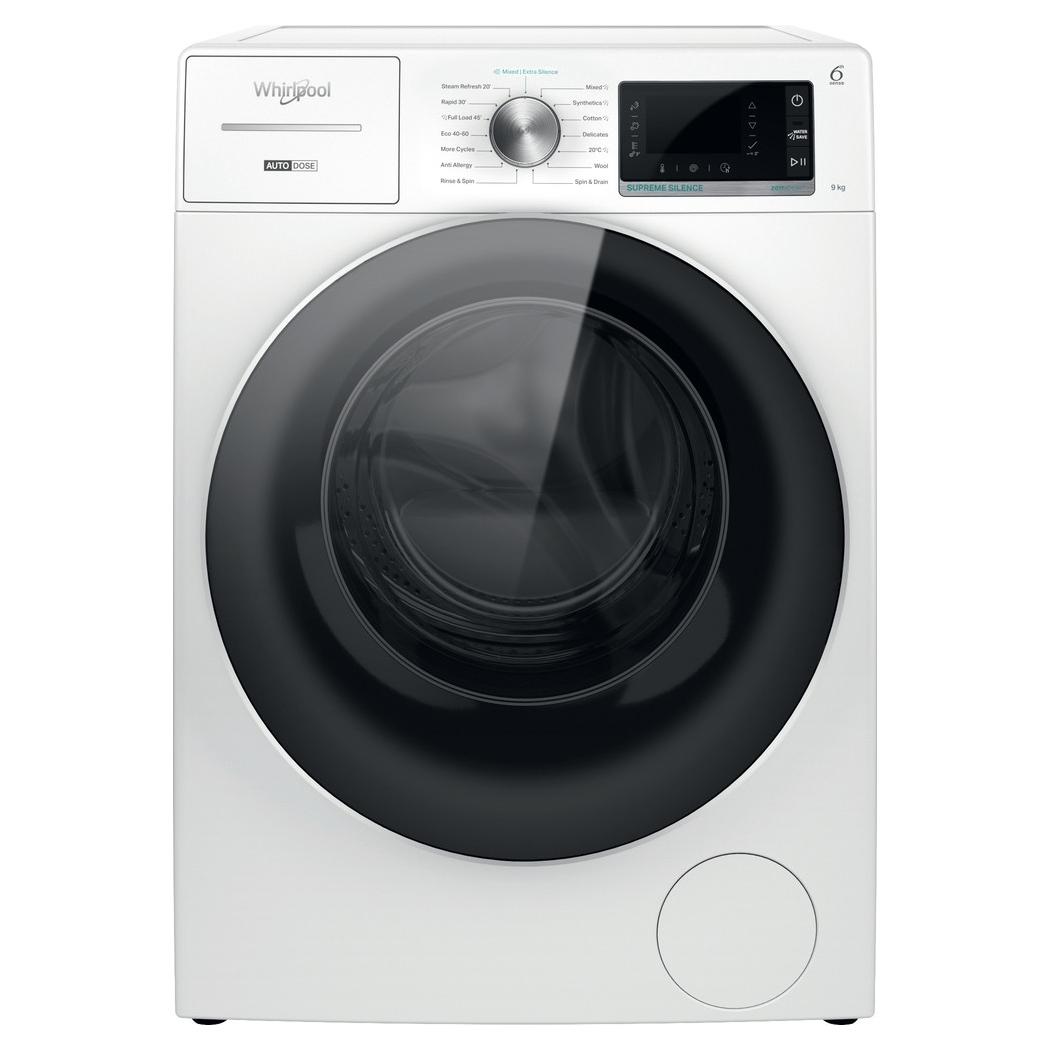 Whirlpool W8W946WRUK 9kg Auto Dose Washing Machine 1400rpm - WHITE