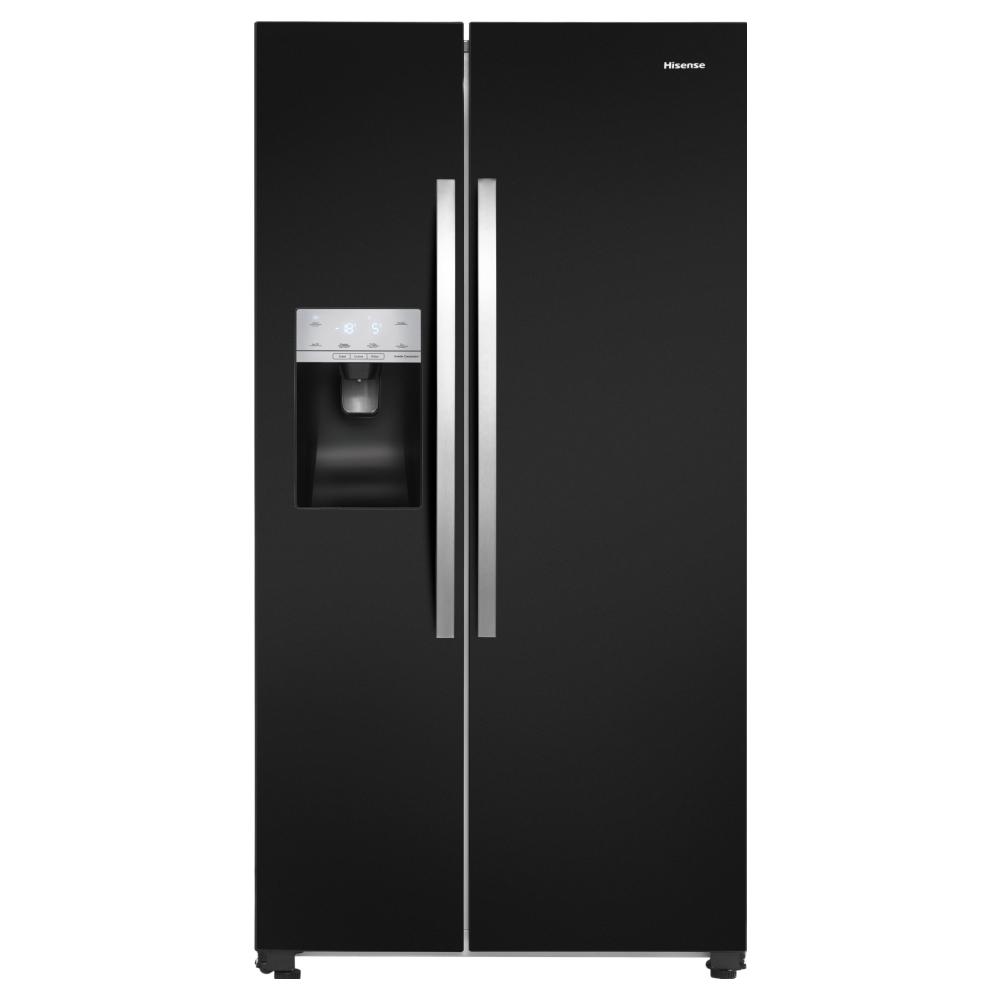 Hisense RS694N4IBF American Style Fridge Freezer Ice & Water - BLACK