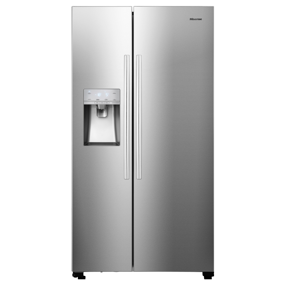 Hisense RS694N4ICF American Style Fridge Freezer Ice & Water - SILVER