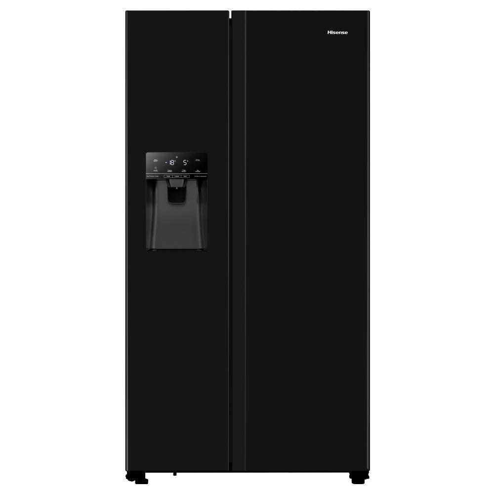 Hisense RS694N4TBF American Style Fridge Freezer Ice & Water Non-plumbed - BLACK