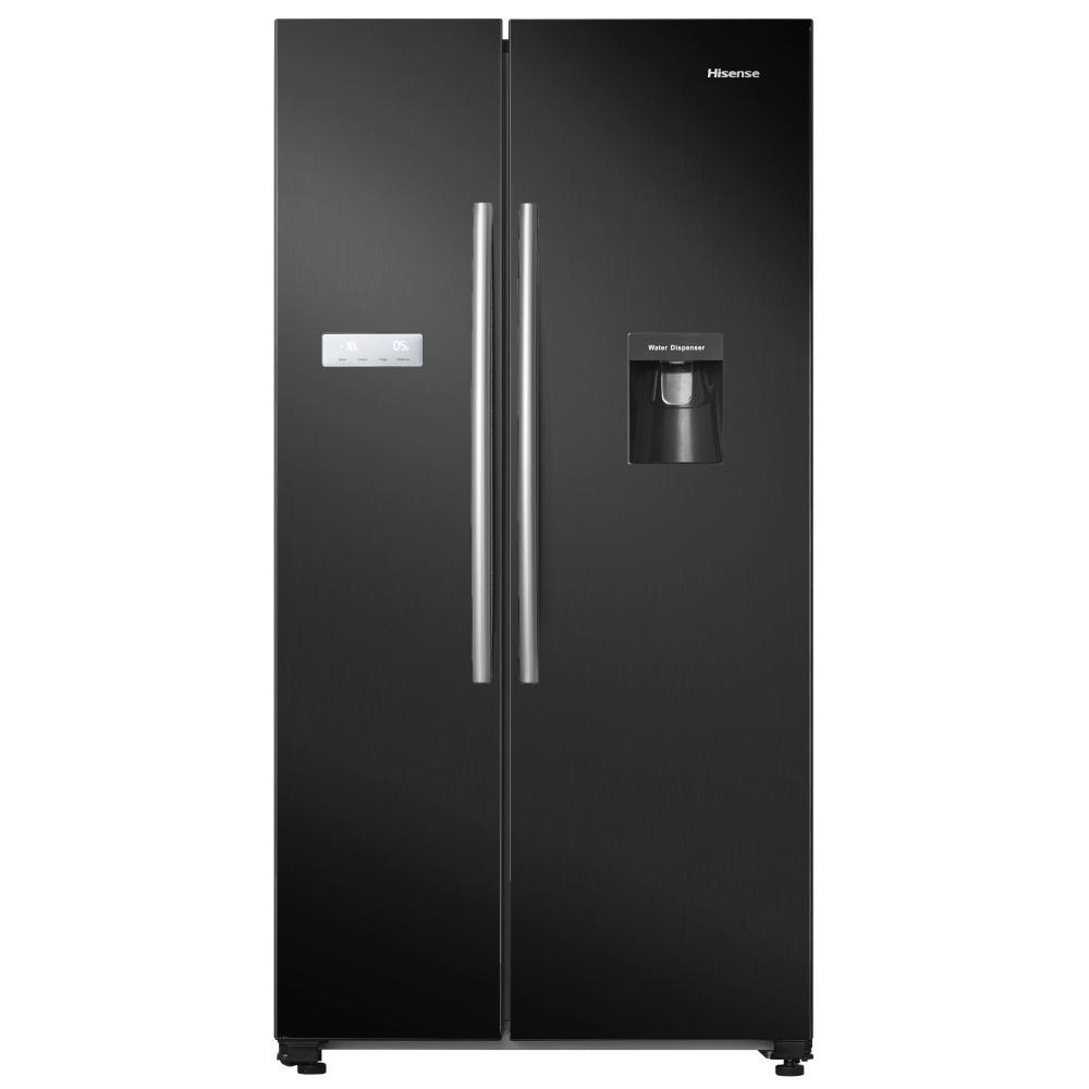 Hisense RS741N4WB11 American Style Fridge Freezer With Water Dispenser - BLACK