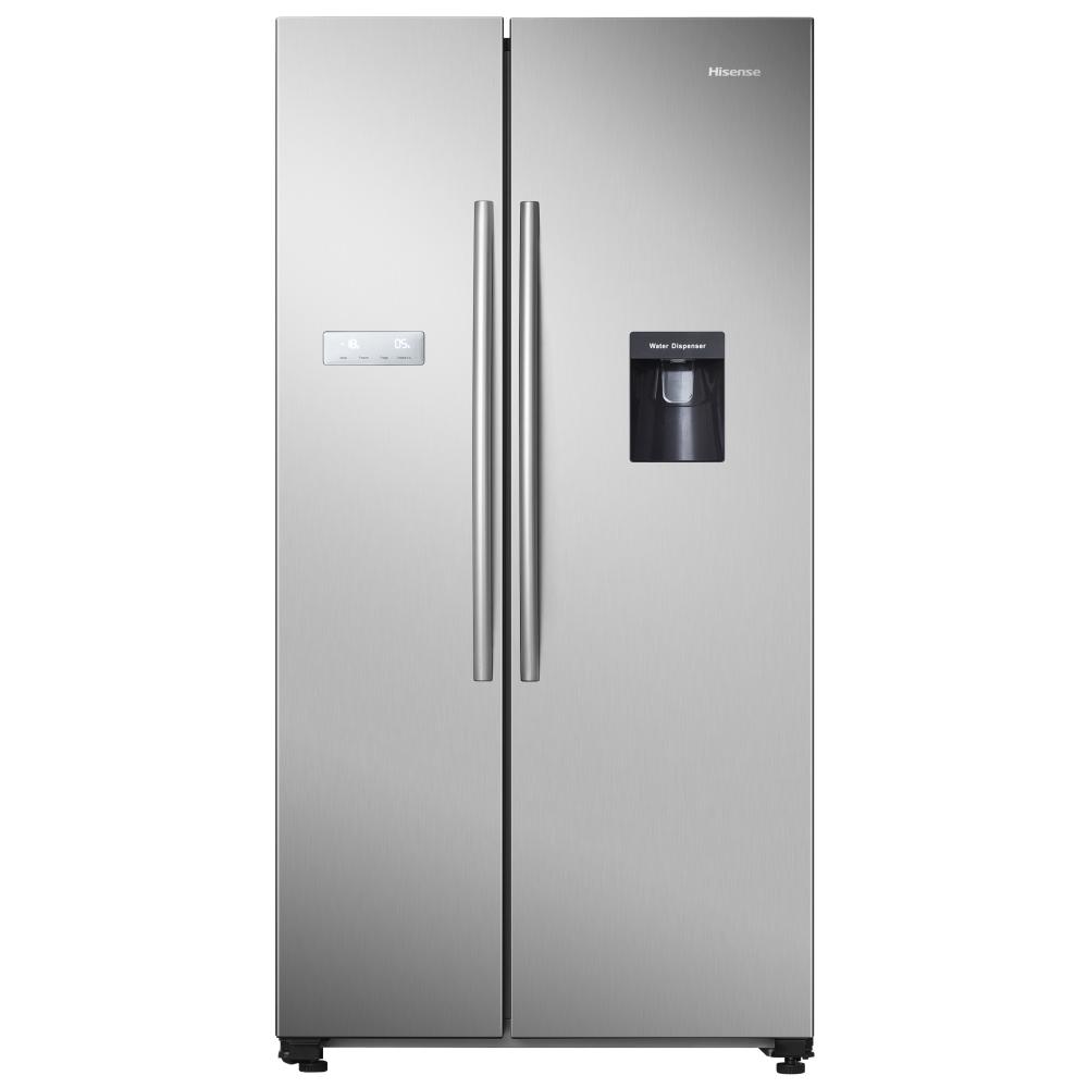 Hisense RS741N4WC11 American Style Fridge Freezer With Water Dispenser - SILVER