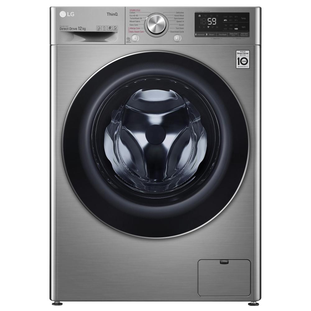 LG F4V712STSE 12kg Steam Washing Machine 1400rpm - GRAPHITE