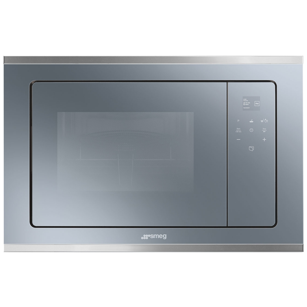 Smeg FMI420S2 Cucina Built In Microwave & Grill For Tall Housing - SILVER